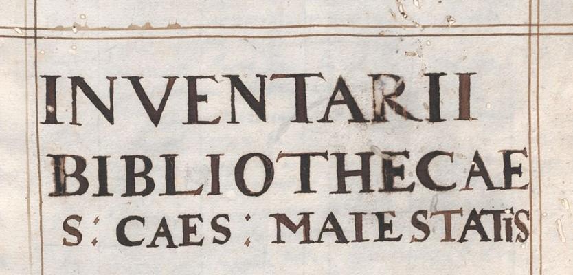 Hugo Blotius (Hugo Blotius, Inventarii                                 bibliothecae S. C. Maiestatis pars posterior (M-Z), Cod.                                 13525)