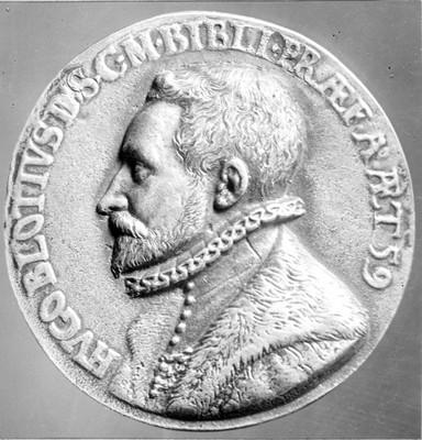 Hugo Blotius (Medaillenbildnis mit                                 lateinischer Umschrift und Altersangabe); Bildarchiv Austria                                 (460.713-B)